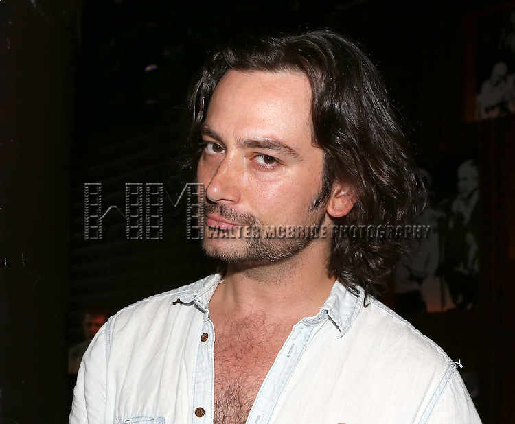 Constantine Maroulis posing for the 'Wake Up with Broadwayworld.com' campaign at Joe's Pub on June 16, 2014 in New York City.