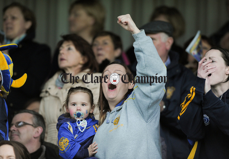 Newmarket fans cheer on their team during the senior county hurling final at Cusack Park. Photograph by John Kelly.