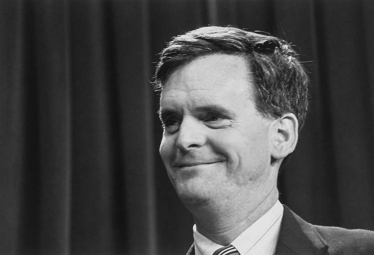 Sen. Judd Gregg, R-N.H., in April 1993. (Photo by Maureen Keating/CQ Roll Call via Getty Images)