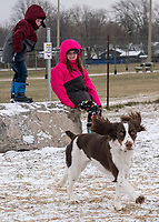 Cold and bitter conditions didn't discourage some people from going outdoors for fresh air and exercise at the Sarnia Dog Park, with grandmother Karrie One, with her grandchildren Natalie McLaughlin, 7, Hayden McLaughlin, 5 and their seven-month-old puppy Millie.