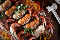 Fortaleza_CE, Brasil...Caranquejada, pratico tipico de Fortaleza, Ceara...Crabs, typical food in Fortaleza, Ceara...Foto: BRUNO MAGALHAES / NITRO