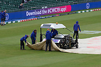 The groundsmen worked tirelessly to get the outfield in a condition to allow play during Pakistan vs Sri Lanka, ICC World Cup Cricket at the Bristol County Ground on 7th June 2019