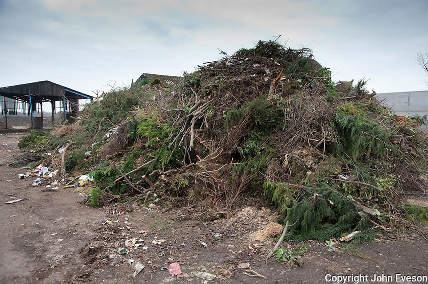 Green waste for composting, Doncaster, Yorkshire.
