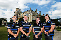 Bath Rugby Head Coach Mike Ford and First Team Coaches Darren Lewis, Toby Booth and Neal Hatley pose for a portrait at a Bath Rugby photocall. Bath Rugby Media Day on September 8, 2015 at Farleigh House in Bath, England. Photo by: Rogan Thomson for Onside Images