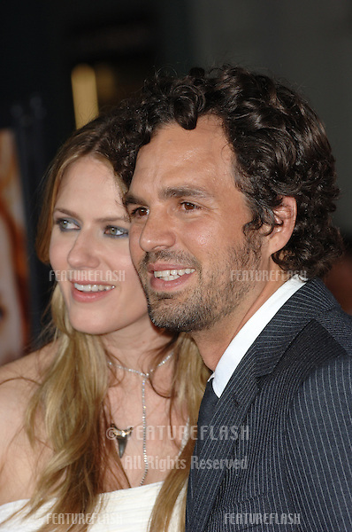 Actor MARK RUFFALO & wife actress SUNRISE COIGNEY at the Los Angeles premiere of his new movie Just Like Heaven at the Grauman's Chinese Theatre, Hollywood..September 8, 2005  Los Angeles, CA.© 2005 Paul Smith / Featureflash