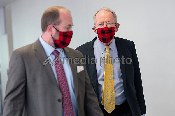United States Senator Lamar Alexander (Republican of Tennessee) arrives to GOP policy luncheons on Capitol Hill in Washington D.C., U.S., on Tuesday, June 2, 2020.  Credit: Stefani Reynolds / CNP/AdMedia