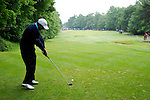 Richard Sterne drives off on the 16th hole during the final round of the BMW PGA Championship at Wentworth Club, Surrey, England 27th May 2007 (Photo by Eoin Clarke/NEWSFILE)
