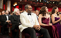 Oscar&reg; nominee Jordan Peele and Chelsea Peretti enjoy the live ABC Telecast of The 90th Oscars&reg; at the Dolby&reg; Theatre in Hollywood, CA on Sunday, March 4, 2018.<br /> *Editorial Use Only*<br /> CAP/PLF/AMPAS<br /> Supplied by Capital Pictures