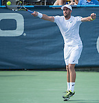 July  22, 2016:  Steve Johnson (USA) defeated John Isner (USA) 7-6, 7-6 at the Citi Open being played at Rock Creek Park Tennis Center in Washington, DC.  ©Leslie Billman/Tennisclix/CSM
