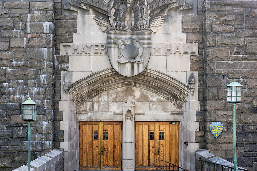 Thayer Hall, West Point Military Academy campus, New York, USA