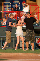 Erie Seawolves fans partake in an on field promotion during a game vs. the Trenton Thunder at Jerry Uht Park in Erie, Pennsylvania;  June 23, 2010.   Trenton defeated Erie 12-7  Photo By Mike Janes/Four Seam Images