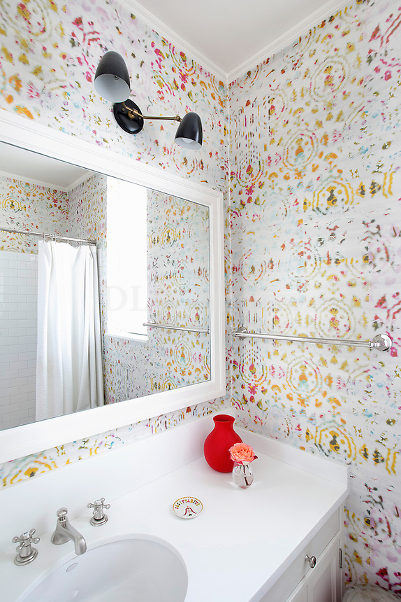 romantic white bathroom