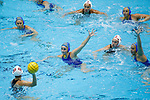INDIANAPOLIS, IN - MAY 14: General view as Maddie Musselman (7) of UCLA defends during the Division I Women's Water Polo Championship against Stanford University held at the IU Natatorium-IUPUI Campus on May 14, 2017 in Indianapolis, Indiana. (Photo by Joe Robbins/NCAA Photos/NCAA Photos via Getty Images)