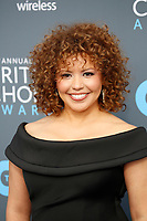 Justina Machado attends the 23rd Annual Critics' Choice Awards at Barker Hangar in Santa Monica, Los Angeles, USA, on 11 January 2018. Photo: Hubert Boesl - NO WIRE SERVICE - Photo: Hubert Boesl/dpa /MediaPunch ***FOR USA ONLY***