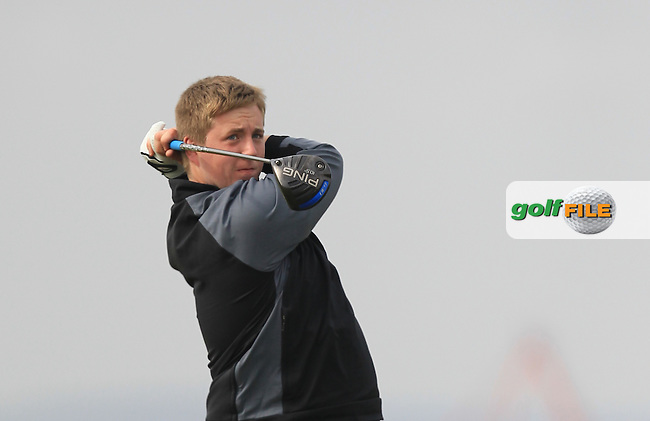 Michael Ryan (New Ross) on the 3rd tee during Round 2 of the Flogas Irish Amateur Open Championship at Royal Dublin on Friday 6th May 2016.<br /> Picture:  Thos Caffrey / www.golffile.ie