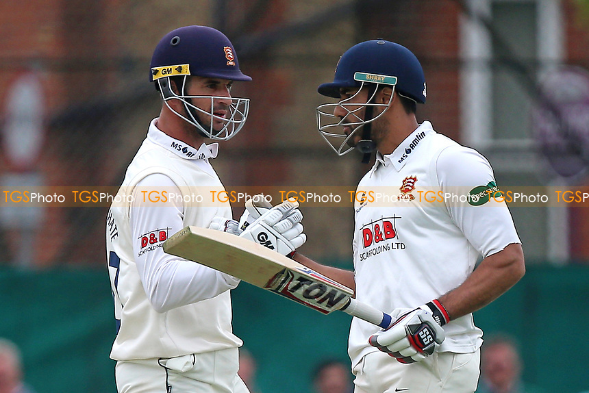 Essex half-centurions Ryan ten Doeschate (L) and Ravi Bopara during Surrey CCC vs Essex CCC, Specsavers County Championship Division 1 Cricket at Guildford CC, The Sports Ground on 10th June 2017