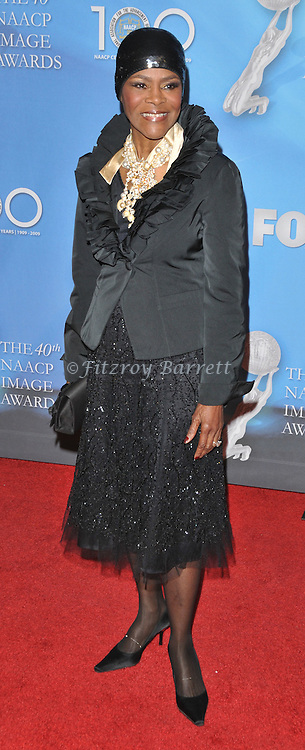 Cicely Tyson arriving at the 40th NAACP Image Awards held at the Shrine Auditorium Los Angeles, Ca. February 12, 2009. Fitzroy Barrett