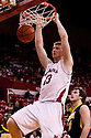 29 February 2012: Brandon Ubel #13 of the Nebraska Cornhuskers dunks the ball against the Iowa Hawkeyes during the second half at the Devaney Sports Center in Lincoln, Nebraska. Iowa defeated Nebraska 62 to 53.