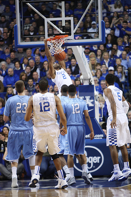 Aaron Harrison dunks the ball during UK vs. Columbia at Rupp Arena in Lexington, Ky., on Friday, December 5,  2014. Photo by Emily Wuetcher | Staff