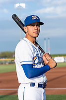 Omaha Storm Chasers infielder Nicky Lopez (3) poses for a photo before a Pacific Coast League game against the Memphis Redbirds at Werner Park on April 26, 2019 in Omaha, Nebraska. (Zachary Lucy/Four Seam Images)