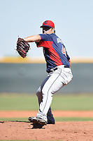 Cleveland Indians pitcher Cody Anderson (40) during an Instructional League game against the Seattle Mariners on October 1, 2014 at Goodyear Training Complex in Goodyear, Arizona.  (Mike Janes/Four Seam Images)