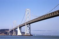 Oakland Bay suspension bridge in San Francisco, California USA