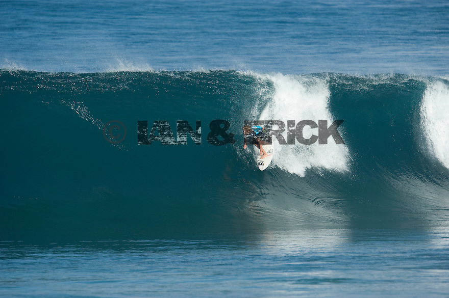 Jon Jon Florence (HAW) during the Billabong Pipeline Masters at Backdoor on the Northshore of Oahu in Hawaii.