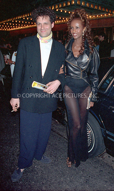 WWW.ACEPIXS.COM *** NO U.K. NEWSPAPERS SALES ***....NEW YORK, CIRCA 1995: ISAAC MIZRAHI, IMAN....Please byline: R. BOCKLET-ACE PICTURES.   ..  ***  ..Ace Pictures, Inc:  ..contact: Alecsey Boldeskul (646) 267-6913 ..Philip Vaughan (646) 769-0430..e-mail: info@acepixs.com