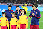(L-R) Neymar, Lionel Messi, Luis Suarez (Barcelona), <br /> DECEMBER 20, 2015 - Football / Soccer : <br /> FIFA Club World Cup Japan 2015 <br /> Final match between River Plate 0-3 Barcelona  <br /> at Yokohama International Stadium in Kanagawa, Japan.<br /> (Photo by Yohei Osada/AFLO SPORT)