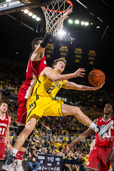Michigan Men's Basketball loses to Wisconsin, 69-64, in overtime at Crisler Arena in Ann Arbor, MI, on Jan. 24, 2015.