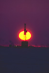 Alaska, Oil drilling rig, Prudhoe Bay, Arctic Alaska, North Slope, ARCO oilfields, difficult working conditions in extreme climate.