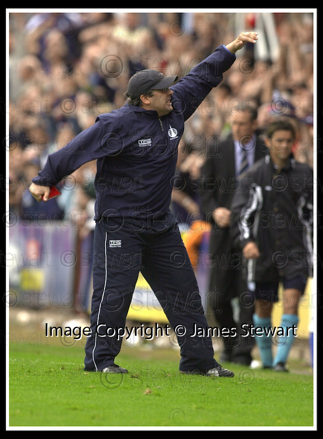 28/9/02       Copyright Pic : James Stewart                     .File Name : stewart-falkirk v st j'stone 25.IAN MCCALL CELEBRATES AT THE END OF THE GAME....James Stewart Photo Agency, 19 Carronlea Drive, Falkirk. FK2 8DN      Vat Reg No. 607 6932 25.Office : +44 (0)1324 570906     .Mobile : + 44 (0)7721 416997.Fax     :  +44 (0)1324 570906.E-mail : jim@jspa.co.uk.If you require further information then contact Jim Stewart on any of the numbers above.........