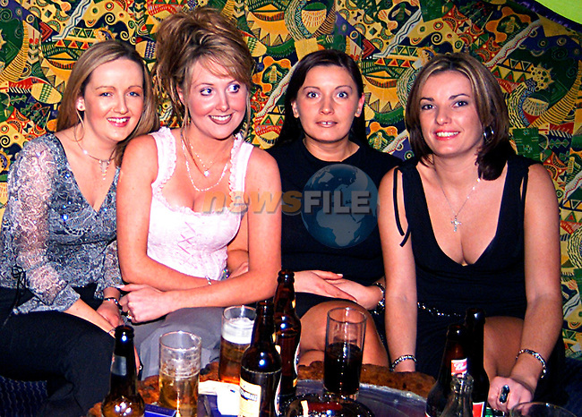 Fiona Collins, Sandra Hogan .,Susan White, Maggie Maloney in Earth on New Year Eve...Pic Tony Campbell/Newsfile