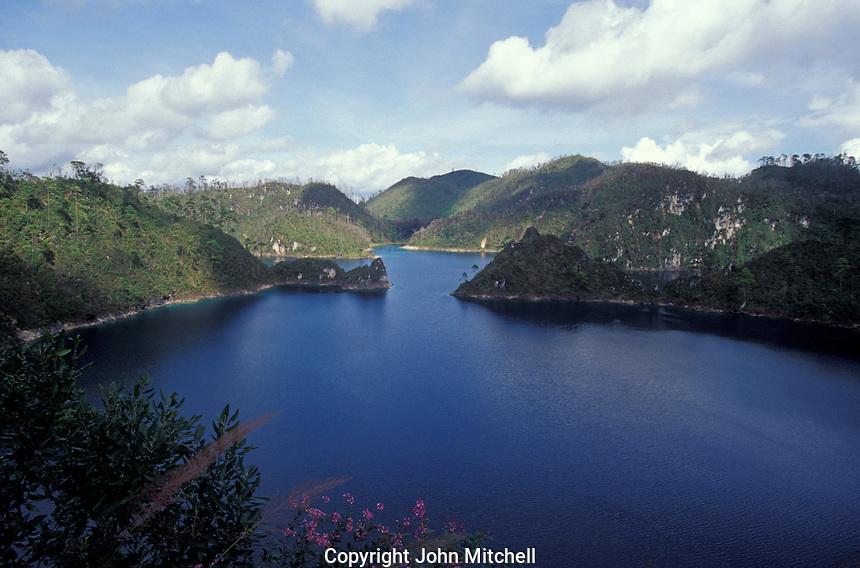 Lake in Lagunas de Montebello National Park, Chiapas, Mexico