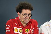 29th November 2019; Yas Marina Circuit, Abu Dhabi, United Arab Emirates; Formula 1 Abu Dhabi Grand Prix, practice day; Mattia Binotto, Team Principal of Scuderia Ferrari - Editorial Use