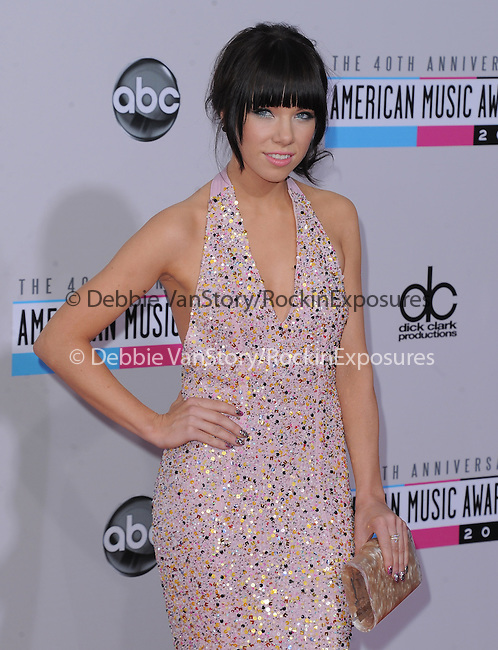 Carly Rae Jepsen at The 2011 MTV Video Music Awards held at Staples Center in Los Angeles, California on September 06,2012                                                                   Copyright 2012  DVS / Hollywood Press Agency