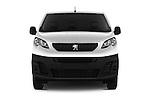Car photography straight front view of a 2016 Peugeot Expert Premium 4 Door Cargo Van Front View