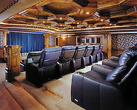 Innovative Home Theater With Cinematic Seating