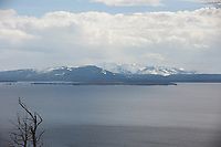 Mountains are pictured across Yellowstone Lake from the Lake Butte Overlook in Yellowstone National Park, Wyoming on Monday, May 22, 2017. (Photo by James Brosher)