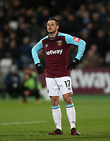 West Ham United's Javier Hernandez<br /> <br /> Photographer Rob Newell/CameraSport<br /> <br /> The Premier League - West Ham United v Arsenal - Wednesday 13th December 2017 - London Stadium - London<br /> <br /> World Copyright &copy; 2017 CameraSport. All rights reserved. 43 Linden Ave. Countesthorpe. Leicester. England. LE8 5PG - Tel: +44 (0) 116 277 4147 - admin@camerasport.com - www.camerasport.com