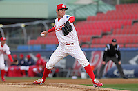 Reading Phillies starting pitcher Jonathan Pettibone #36 delivers a pitch during a game against the New Hampshire Fisher Cats at FirstEnergy Stadium on April 10, 2012 in Reading, Pennsylvania.  New Hampshire defeated Reading 3-2.  (Mike Janes/Four Seam Images)