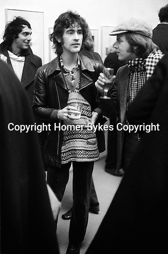 Ossie Clark at a David Hockney private view, &quot;Recent Etchings&quot; at the Kasmin Gallery Bond Street London.  December 1969.<br />