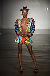 Model walks runway in an outfit from the Lava Woman collection at Cope NYC, on October 12, 2019, during Fashion Week Brooklyn Spring Summer 2020.