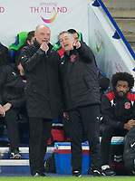 Fleetwood Town Manager Uwe Rosler & Fleetwood Town Assistant Head Coach Rob Kelly during the FA Cup 3rd round replay  match between Leicester City and Fleetwood Town at the King Power Stadium, Leicester, England on 16 January 2018. Photo by Andy Rowland.