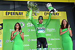 Peter Sagan (SVK) Bora-Hansgrohe takes over the points Green Jersey at the end of Stage 3 of the 2019 Tour de France running 215km from Binche, Belgium to Epernay, France. 8th July 2019.<br /> Picture: ASO/Alex Broadway | Cyclefile<br /> All photos usage must carry mandatory copyright credit (© Cyclefile | ASO/Alex Broadway)