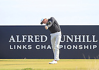 Gary Hurley (IRL) on the 16th tee during Round 3 of the 2015 Alfred Dunhill Links Championship at Kingsbarns in Scotland on 3/10/15.<br /> Picture: Thos Caffrey | Golffile