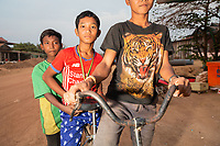 Boys in the village of Souch, near the Phnom Tnout Phnom Pok Wildlife Sanctuary, in northern Cambodia.