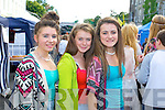 Maria Power, Ciara Riordan and Amy Cullinane (all Abbeyfeale) waiting for the Union J concert at Denny Street on Friday.