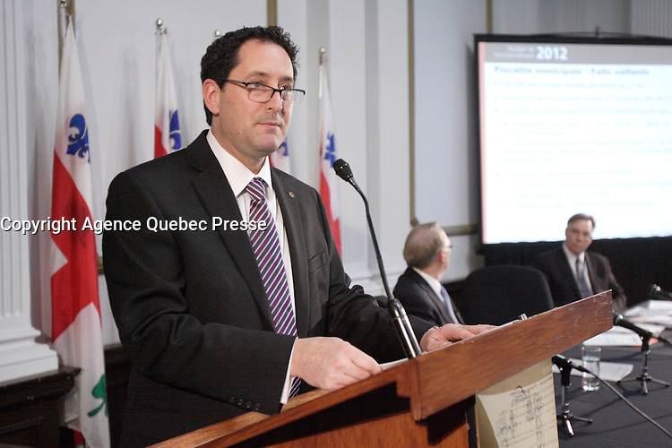 Montreal (Qc) CANADA - November 30 201 File Photo - Montreal city Budget - Michael Applebaum - Michael Applebaum is one of the possible replacement of Mayor Gerald Tremblay who resigned November 5, 2012.