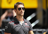 ROMAIN GROSJEAN (FRA) of Haas F1 Team during The Formula 1 2018 Rolex British Grand Prix at Silverstone Circuit, Northampton, England on 8 July 2018. Photo by Vince  Mignott.